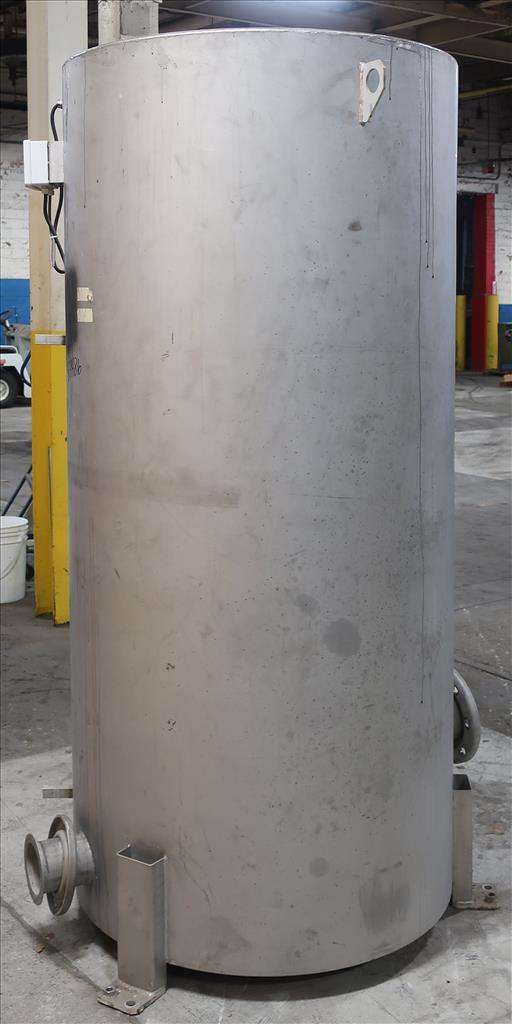 Tank 350 gallon vertical tank, Stainless Steel, flat4