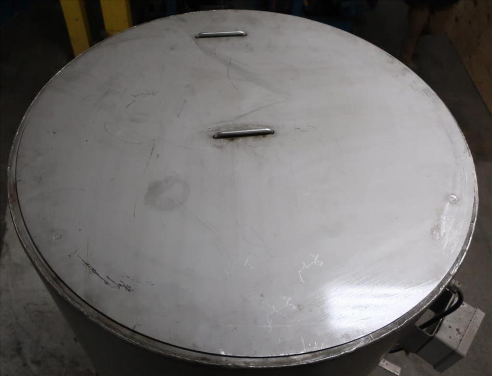 Tank 350 gallon vertical tank, Stainless Steel, flat5