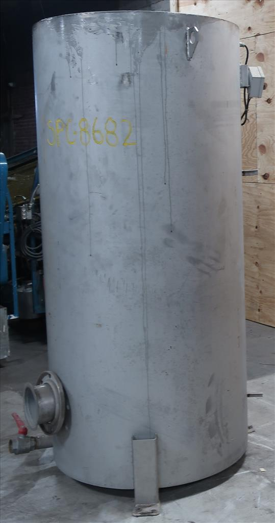 Tank 350 gallon vertical tank, Stainless Steel, flat2