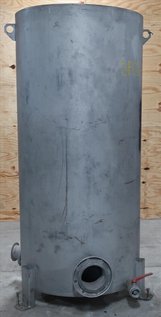 Tank 350 gallon vertical tank, Stainless Steel, flat1