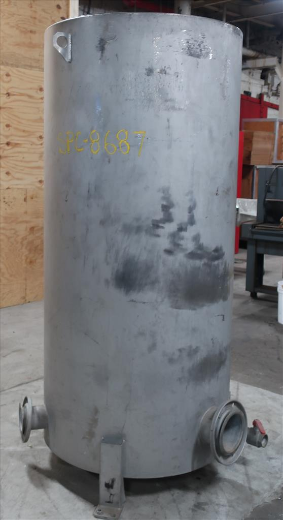 Tank 350 gallon vertical tank, Stainless Steel, flat3