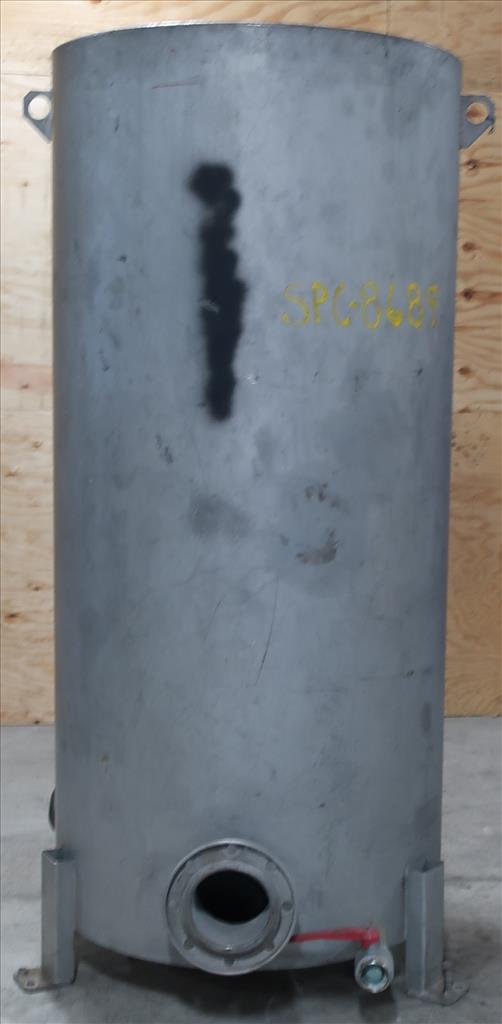 Tank 350 gallon vertical tank, Stainless Steel, flat1