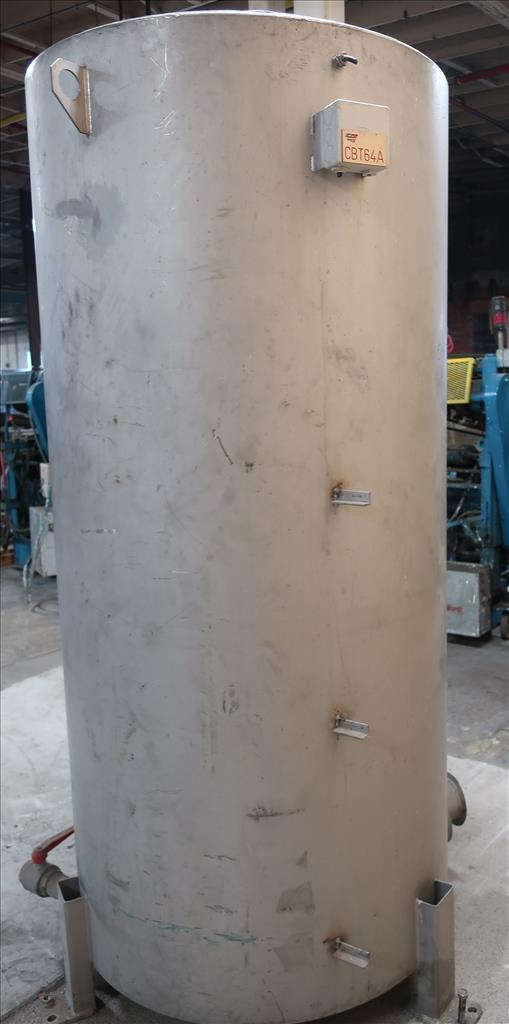 Tank 350 gallon vertical tank, Stainless Steel, flat4