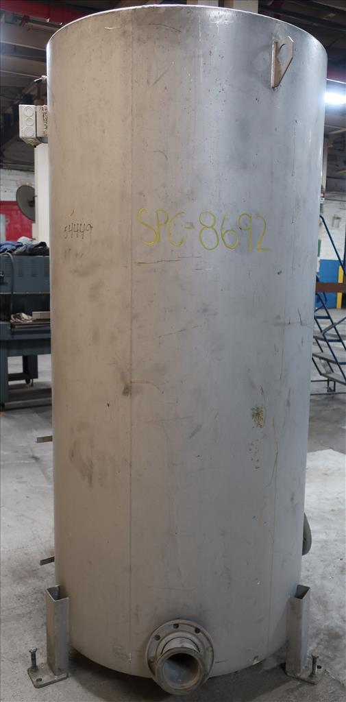 Tank 350 gallon vertical tank, Stainless Steel, flat5