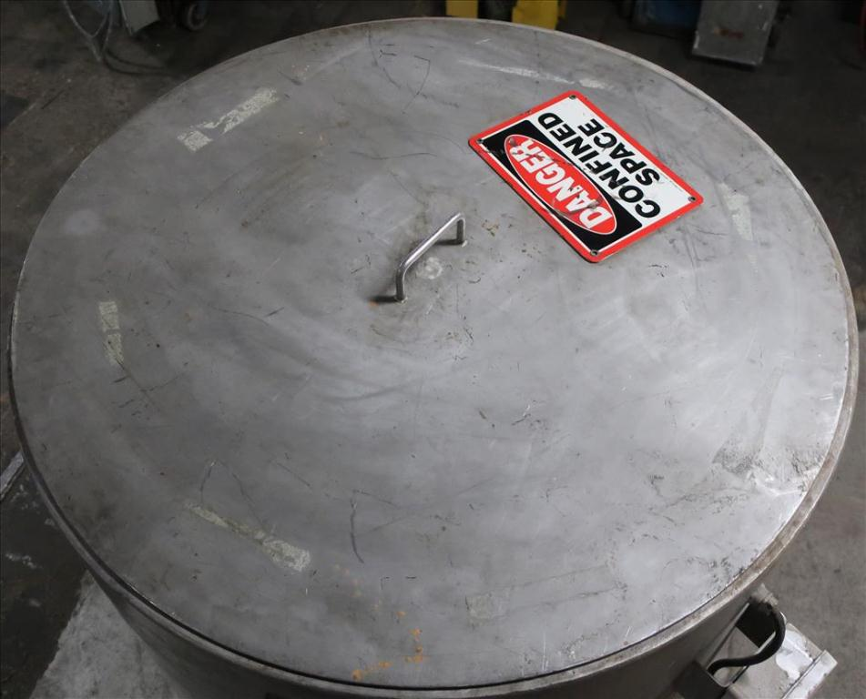 Tank 350 gallon vertical tank, Stainless Steel, flat6