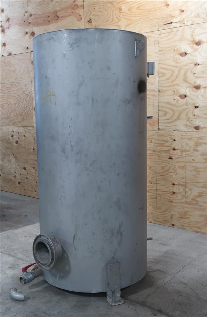 Tank 350 gallon vertical tank, Stainless Steel, flat2