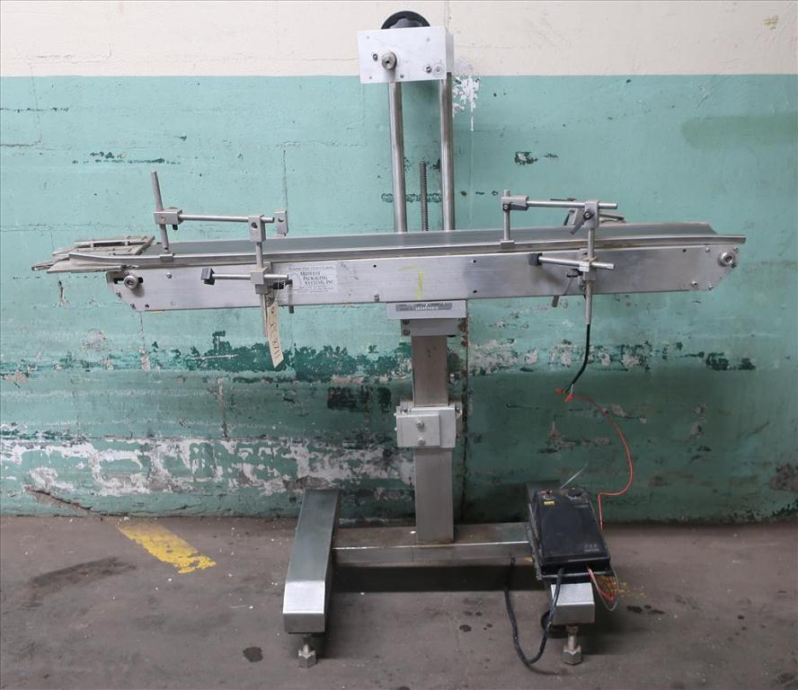 Conveyor Midwest Packaging Systems belt conveyor Stainless Steel, 23 W x 56 L x 54 H1