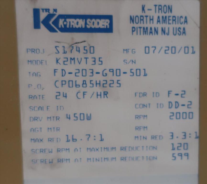 Feeder 1.5 K-Tron screw feeder 316 SS3