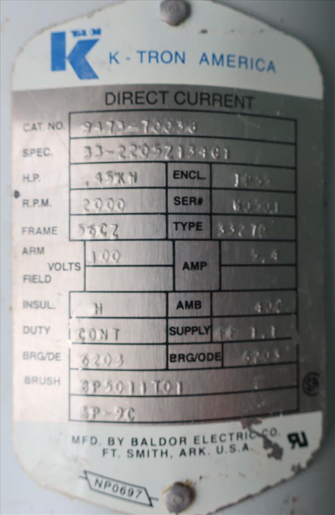 Feeder 1.5 K-Tron screw feeder 316 SS4