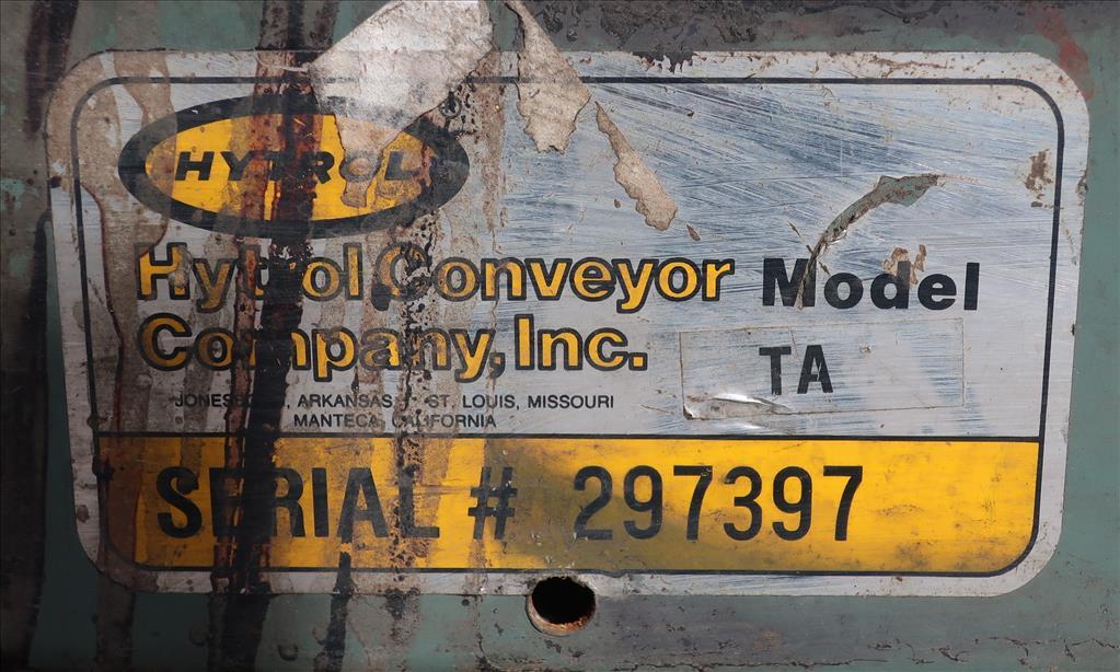 Conveyor Hytrol belt conveyor model TA, CS, 12 x 704