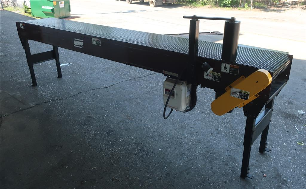 Conveyor Quipp belt conveyor model Mat Top Conv. Bundle Turn, CS, 18 x 1302