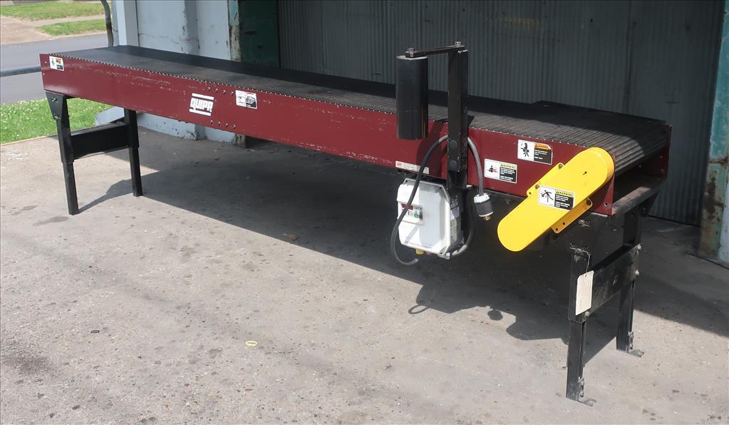 Conveyor Quipp belt conveyor model Mat Top Conv. Bundle Turn, CS, 18 x 1301