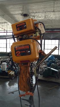 2 Ton Harrington chain hoist with power trolley