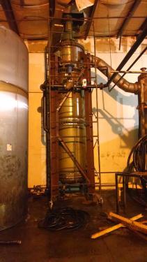 10 sq meter stainless steel vertical thin film evaporator.