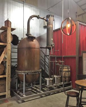 365 gallon Liberty Coppersmith pot still, 25 psi, copper