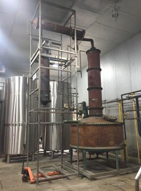 1175 gallon Liberty Coppersmith pot still, 25 psi, copper