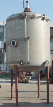 Tank 2400 gallon vertical tank, 304 SS, dish bottom