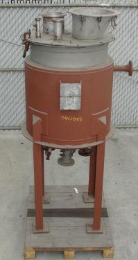 Tank 67 gallon vertical tank, 304 SS, 75 PSI @ 650 F jacket, dish bottom
