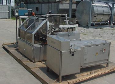 Tray Former Packer A and F Jagenberg intermittent motion tray former packer model 456-1