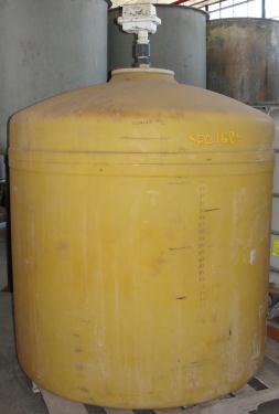Tank 360 gallon vertical tank, Polypropylene, flat