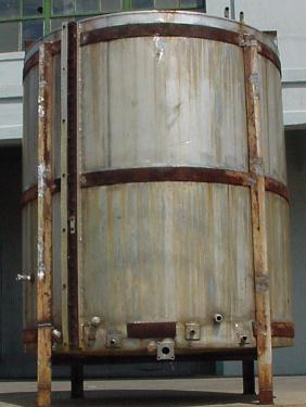 Tank 1000 gallon vertical tank, Stainless Steel, flat