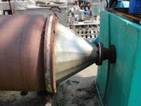 Evaporator 97 sq.ft. Rodney Hunt thin film evaporator, 316 SS