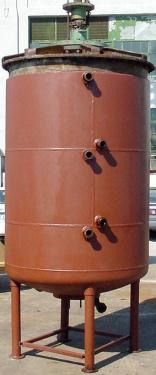 Tank 735 gallon vertical tank, Stainless Steel, Hot Oil or Low Pressure jacket, 20 hp Top Mounted 16 rpm agitator, dish