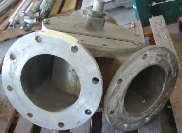 Valve 8 Maco pneumatic diverter valve, 8  Aluminum