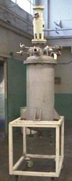 Tank 60 gallon vertical tank, Stainless Steel, 1/4 hp Top Mounted agitator, dish bottom