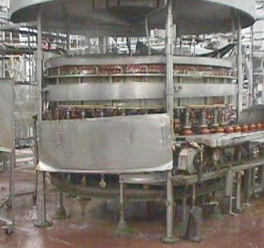Filler 30 valve Horix liquid gravity filler model 900-SG-60 LH, 9.5 centers, up to 600 cpm