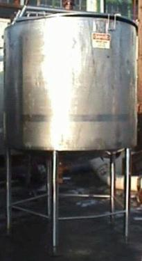 Kettle 1000 gallon Walker processor kettle, agitator Side and Bottom Scraping, 125 psi jacket rating, Stainless Steel