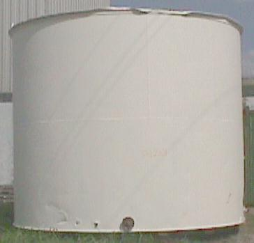 Tank 13800 gallon vertical tank, Stainless Steel Clad, flat
