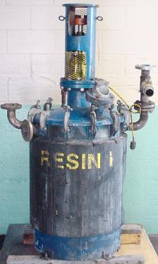 Reactor 75 gallon Silvan Industries chemical reactor, 110 psi internal, 50 psi jacket