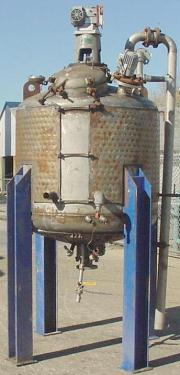 Reactor 350 gallon Resun Manufacturing Co. chemical reactor, 15 psi internal, 60 psi jacket