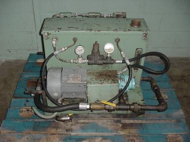 Pump 5 hp hydraulic power unit, 17 gal. reservoir tank