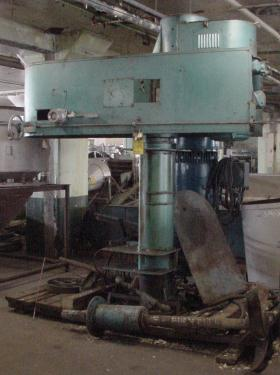 Mixer and Blender 30 hp Hockmeyer disperser, air/oil lift, floor mount style, variable speed drive