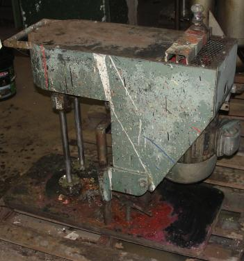 Mixer and Blender 2 hp Myers Engineering disperser, Tilting lift, variable speed drive