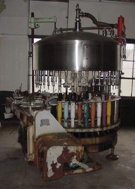 Filler 44 valve Horix liquid gravity filler model HFV 44, 4.5 centers