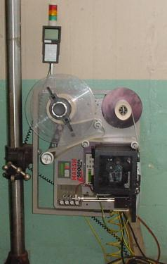 Labeler Marsh pressure sensitive labeler model 5000 PA, Tap On, up to 12 per second