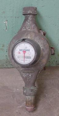 Valve 1 Neptune model 1T-10 liquid flow meter, Brass