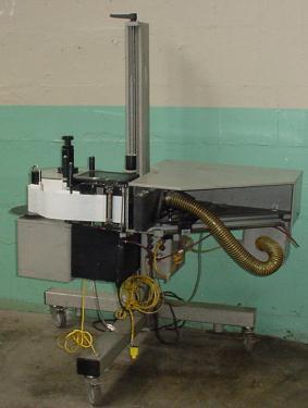 Labeler Marsh pressure sensitive labeler model L 5000 PA, corner wipe on, 12 per sec