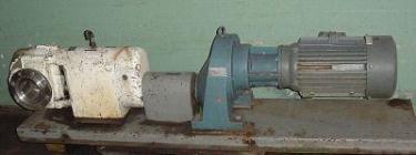 Pump 5 inlet Lobeflo positive displacement pump model AP/LV 500, 20 hp, Stainless Steel