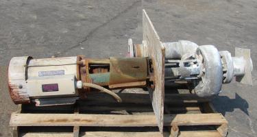 Pump 6x6x9.75 Crane Deming vertical centrifugal pump model 6652/6MLD, 30 hp, 316 SS