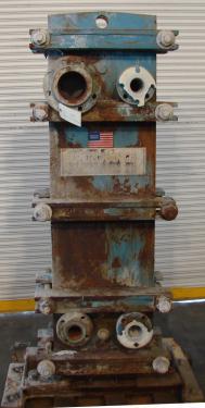 Heat Exchanger 97 sq.ft. Tranter Superchanger plate heat exchanger, Stainless Steel