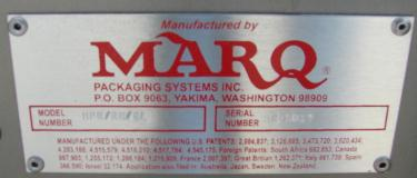 Case Sealer Marq top only case taper model HPR/RH/DL, speed 1200 cases per hour