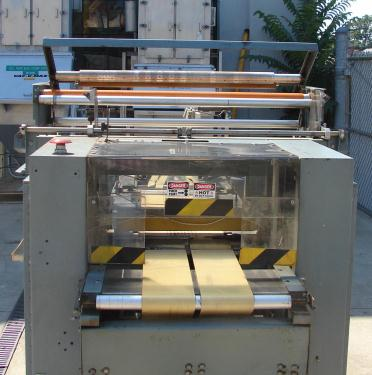 Wrapper Shanklin automatic shrink wrapping machine model F-3, speed up to 50 ppm