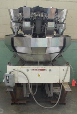 Scale 8 bucket Ishida multihead weigher model CCW-Z-208B-S/30-PB, Stainless Steel, 14 g to 454 g weigher capacity