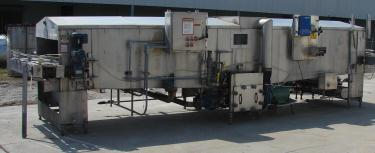 Pasteurizer Tunnel 5 x 20 S.J. Industries can warmer model 5 20, Stainless Steel