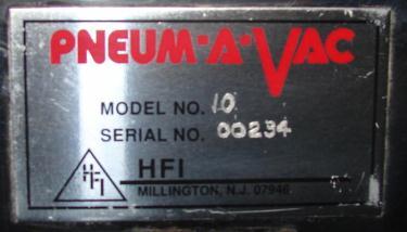 Conveyor HFI pneumatic conveyor model 10, Stainless Steel