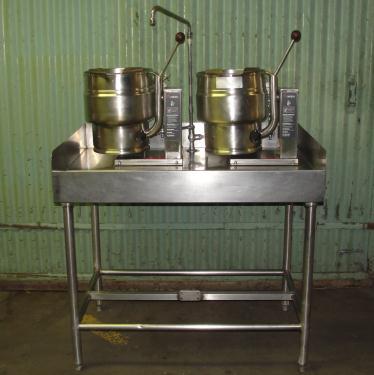 Kettle 2.5 gallon Groen hemispherical bottom kettle, 50 psi @ 300° F psi jacket rating, 316 SS